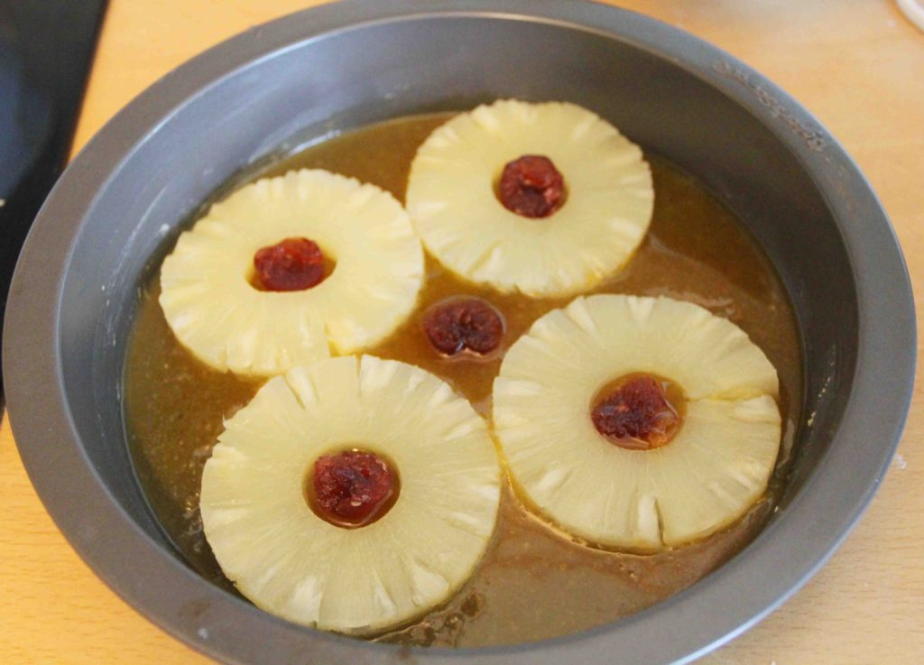 pineapple-upside-down-cake-prep